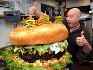 The largest hamburger in the world would give Brendan J. Spaar a heart arrest